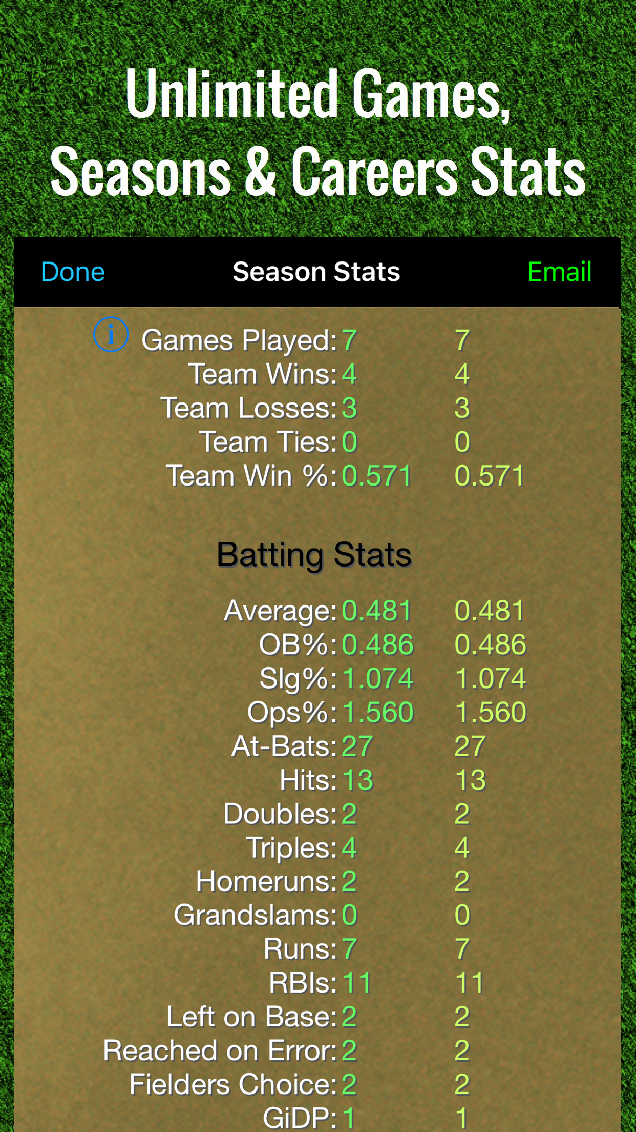 Home - Softball Stats Tracker